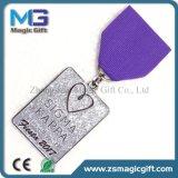 Médaille militaire personnalisée par ventes chaudes en métal avec la bande courte