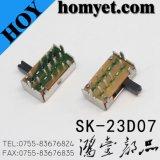 Interruptor de corrediça Sk-23D07 do ângulo direito de Dp3t
