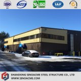 Customized Steel Structure Workshop with Metal Sheet Cladding