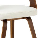 En simili-cuir chaise de salle à manger en bois cintré W13844-4