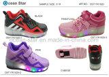 Ботинки спорта ботинок малышей нового света прибытия СИД катаясь на коньках