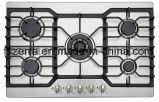 Fresa del gas dei cinque bruciatori con l'apparecchio di cucina del comitato dell'acciaio inossidabile (JZG5822)