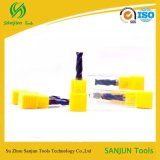 HRC65 맷돌로 가는 절단기 또는 탄화물 Endmill CNC의 강철 Cast/2 플루트 유형을%s 높은 경도 끝 선반