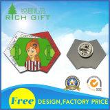 Hochwertige kundenspezifische bunte Decklack-Revers-Stifte für Dekoration-Andenken