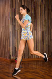 Sportswear apropriado Running da compressão da ginástica de Spandex+Polyester Teamsports da mulher