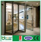 Portelli Bi-Pieganti di vetro del doppio della lega di alluminio con As2047 il certificato Pnoc008