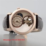 Special que projeta o relógio dos homens automáticos com a cinta de couro genuína Fs593