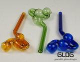 도매 다채로운 유리제 관 기름 가열기 Chillums