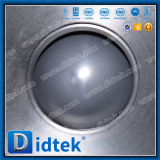 Tipo pneumático válvula do aço inoxidável 304 V de Didtek de esfera para a refinaria