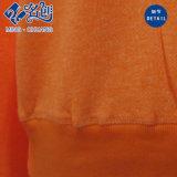 Maglietta rotonda delle signore di modo del collare del manicotto lungo arancione
