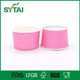 서류상 뚜껑을%s 가진 분홍색 서류상 수프 컵, 아이스크림 컵, PP 뚜껑을%s 가진 처분할 수 있는 서류상 사발