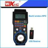 공장 가격 4 축선 무선 USB Mach3 손 바퀴 CNC USB 수동 펄스 발전기 Whb04b-4