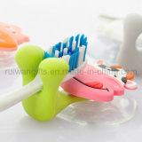Conception d'animaux brosse à dents en caoutchouc PVC Kids titulaire (TBH002)