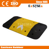 黒く及び黄色のゴム1meter幅の矢の速度のこぶ