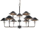 Indicatore luminoso del lampadario a bracci del ferro della decorazione con tonalità di cuoio (SL2077-5)