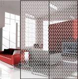 Tela de seda vidro impresso com teste padrão de duas cores