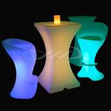 PE de Plastic Moderne LEIDENE Stoel van de Staaf met het Veranderen van de Kleur