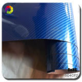Tsautop 차 바디를 위한 차 포장 비닐을 감싸는 최신 판매 1.52*20m 기포 자유롭게 각자 Adehesive 5D 탄소 섬유 PVC 차
