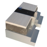 Verbinding van de Uitbreiding van het Aluminium van de Vuller Thinline van de vloer de Concrete Rubber (msqtp-2)