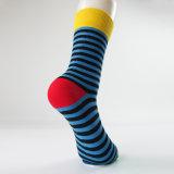 Qualitäts-kundenspezifische bunte gekämmte Baumwollkleid-Geschäfts-Socken