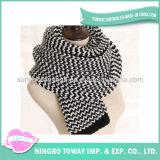 Do sustento acrílico do inverno de Handamde lenço morno do desenhador do lenço