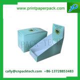 Rectángulo de papel plegable verde de encargo de la visualización cosmética