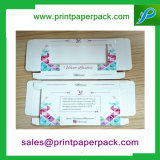Rectángulo cosmético plegable modificado para requisitos particulares de la caja de embalaje del papel de la pestaña del terciopelo con la ventana