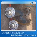 Ineinanderschieben des Hydrozylinders für Speicherauszug-Schlussteil