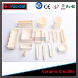 Crogiolo di ceramica resistente a temperatura elevata dell'allumina di elevata purezza