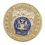 Ronde d'or des pièces de monnaie de souvenirs personnalisés