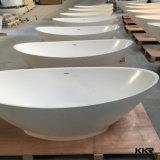 Baignoire en pierre artificielle extérieure solide acrylique blanche pure pour les adultes (171201)