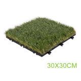En matière plastique artificielle de verrouillage de l'herbe pour le jardin paysager carrelage de sol