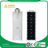 Fabricant directement le commerce de gros 30W intégré toutes dans une rue lumière LED solaire avec batterie Backeup