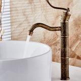 Faucet de bronze antigo elevado da embarcação da bacia da água de Flg