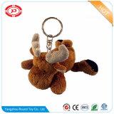 선물 큰사슴 Keychain를 위한 견면 벨벳 브라운 사슴 연약한 장난감