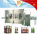 Máquina de rellenar del embotellamiento de whisky de la vodka de la cerveza de la botella de cristal/cadena de producción alcohólicas automáticas