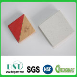 Lastra di cristallo bianca della pietra del quarzo di colore solido