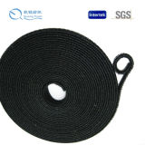 "1/2 ""X7"" 12mmx180mm Black Nylon Back to Back Hook e Loop Cable Tie"