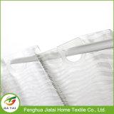 Personalizado White Clear PEVA Hookless Bath Shower Curtain