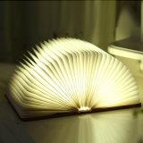Hersteller kundenspezifisches dekoratives LED Buch-Licht der Firmenzeichen-Falz-Buch-geformten hellen Neuheit-mit USB-nachladbarer Funktion