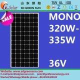 mono tolerancia del positivo del panel de la célula solar de 36V 320W-335W