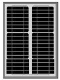 30W monoZonnepaneel voor LEIDENE Lichte, ZonneStraatlantaarn