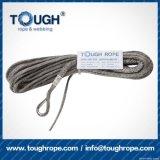 Fibra 100% resistente de Uhwmpe da corda da corda sintética cinzenta do guincho da cor 7.5mmx30m4X4