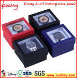 Preiswertes Spitzengeschenk-Papier-kundenspezifisches Kleinfirmenzeichen gedruckter klassischer Papieruhr-Kasten mit Kissen, Uhr-Kästen für einzelne Uhr