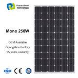 250W屋根のためのモノクリスタルPVの太陽電池パネルのモジュール