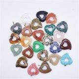 De natuurlijke Juwelen van de Kleur van Mulit van de Tegenhangers van de Charmes van het Hart van het Kristal van de Steen Romantische