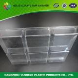Bandeja plástica transparente del compartimiento