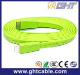 Кабель зеленого высокого качества плоский HDMI (F016)