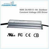 96W 24V/40V 0~4Rainproof una tensión constante al aire libre el controlador LED