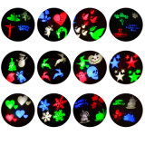2017 neue im Freien und Innen-LED-Weihnachtsprojektor-Licht RGB-Farbe mit 12 Plättchen